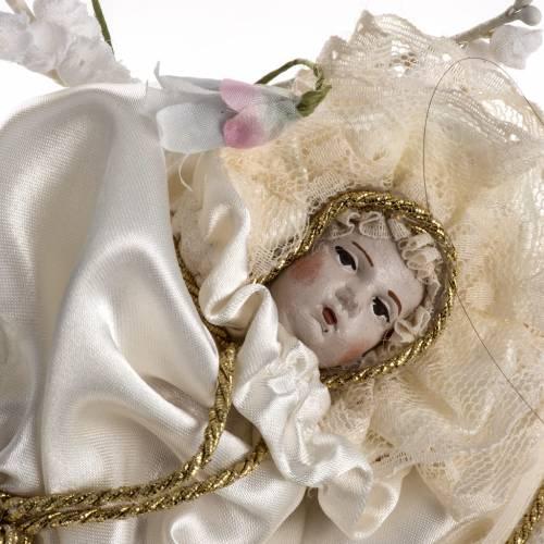 María niña estatua terracota cm 18 campana vidrio s5