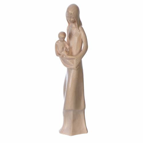 Mary and baby with dove statue, Baroque style in waxed Valgarden s2