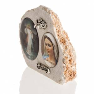 Mary and Jesus image in Medjugorje stone s3