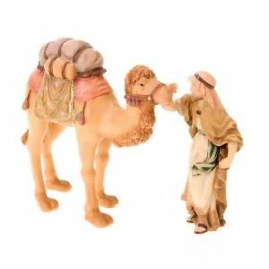 Nativity scene from Val Gardena: Matthew crib, 12 cm