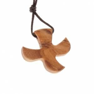 Medaglia forma colomba legno d'ulivo s1
