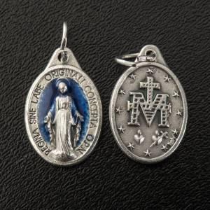 Medaglia Miracolosa ovale in metallo con smalto h 17 mm s2