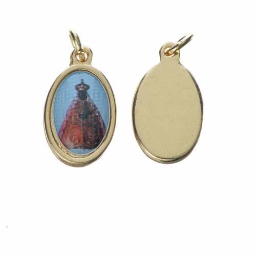 Medaglia Vergine Nera metallo dorato 1,5cm s1