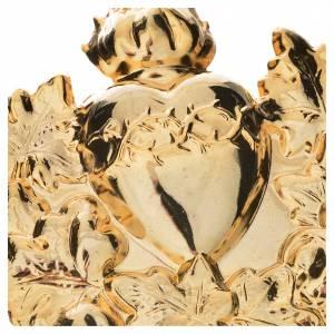 Medaglioni per confraternite: Medaglione confraternita Sacro Cuore con ghirlanda