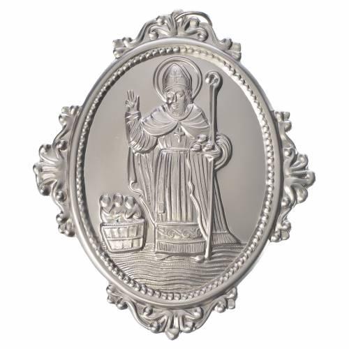 Medaglione per confraternite San Nicola metallo s1