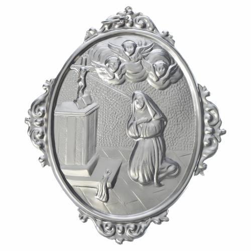 Médaille de confrérie laiton Sainte Rita s1