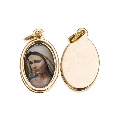 Médaille Medjugorje dorée 1,5x1 cm s1