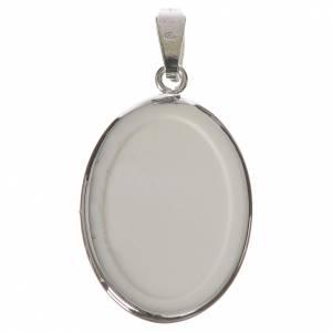 Médaille ovale argent 27mm Enfant Jésus Prague s2