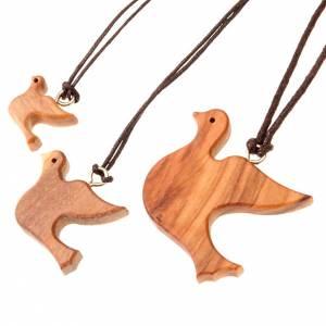 Sonstige Anhänger: Medaille Taube Oliven-Holz