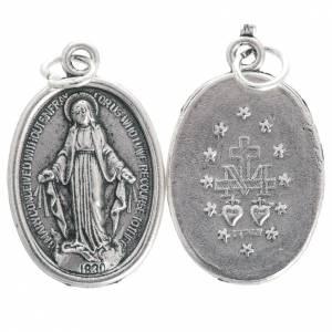 Medaillen: Medaille Wundertätige Madonna oval oxidiertes Metall 20 mm