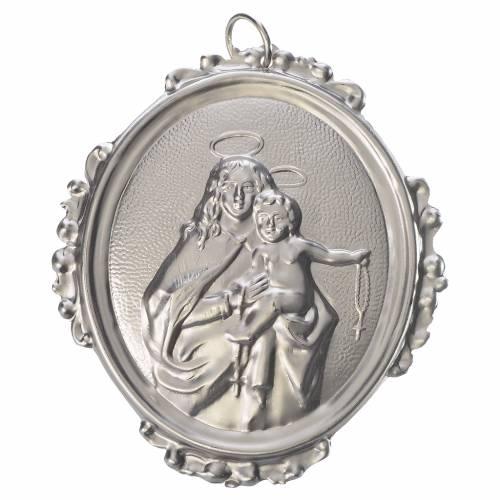 Médaillon de confrérie Notre-Dame du Rosaire laiton s1
