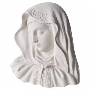 Articles funéraires: Médaillon Notre Dame 16 cm marbre reconstitué