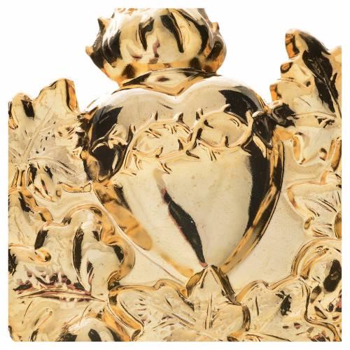 Médaillon Sacré-Coeur avec couronne pour confrérie s2