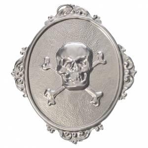 Medaliony dla konfraterni: Medalion dla konfraterni Czaszka mosiądz