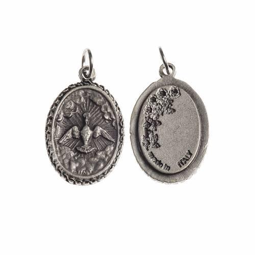 Medalla Espítiru Santo oval borde decorado galváni s1