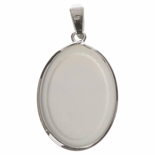 Medalla ovalada de plata, 27mm Ángel s2
