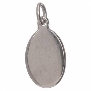 Medalla Virgen de Fátima metal plateado resina 1,5x1cm s2