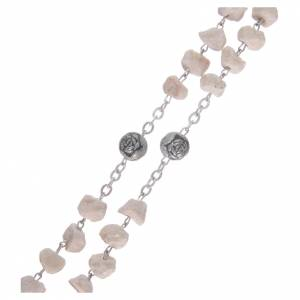 Medjugorje stone rosary with rose-shaped beads s3
