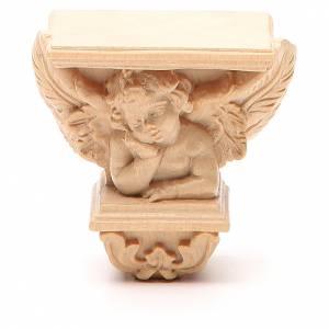 Statue in legno dipinto: Mensola per statue a parete mod. Raffaello naturale cerata