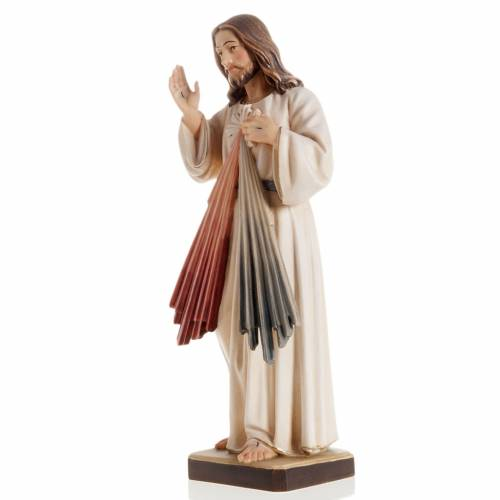 Merciful Jesus wooden statue painted s4