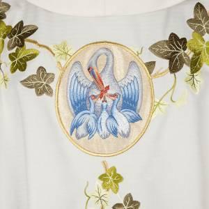 Messgewänder: Messgewand mit Stola, Efeu Pelikan Kreuz