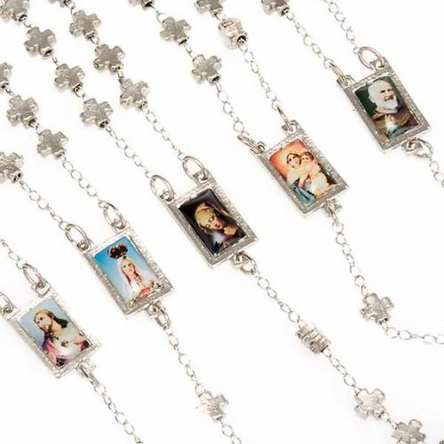 Metal cross-shaped beads rosary 4