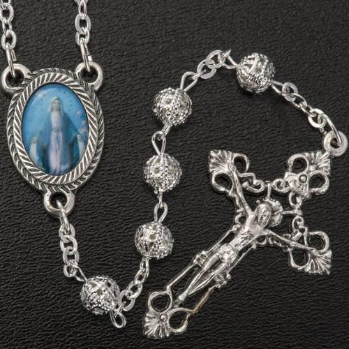 Metal filigree rosary 6 mm s2