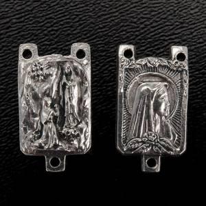 Eigenbau Rosenkränze: Metall Zwischenstück Gottesmutter von Lourdes