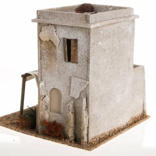 Minaret en miniature avec escalier crèche Noel s4