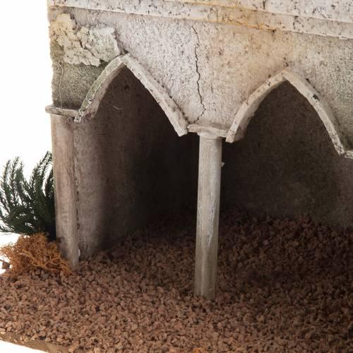 Minarete con cimborrio y arcos belén s4