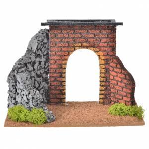 Mini arc crèche de Noel Fontanini 12 cm s1