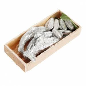 Mini-caisse de poissons crèche 7x3 cm s1