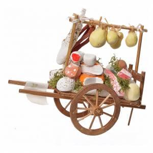 Mini charrette bois et fromages en terre cuite s2