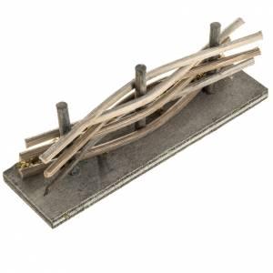 Ponts, ruisseaux, palissades pour crèche: Mini palissade bois avec mousse