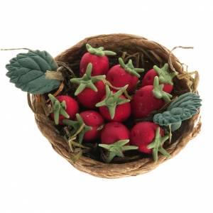 Miniature panier de fraises crèche noel s1