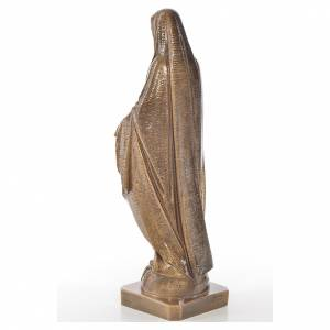 Miraculous Madonna in Carrara marble 19,69in bronze finish s3