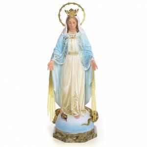 Miraculous Madonna statue 50cm, wood paste, elegant decoration s1