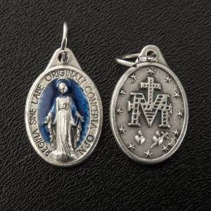 Miraculous Medal, oval in metal and enamel H17mm s2