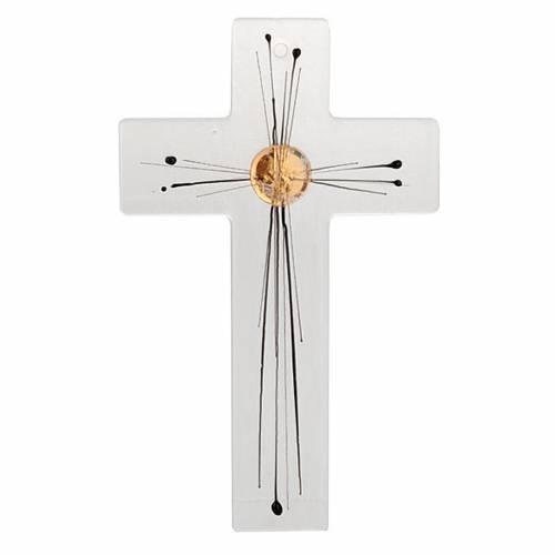 Modern crucifix glass rays body 1