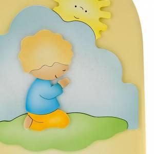 Płaskorzeźby różne: Modlitwa poranna obrazek płaskorzeźba