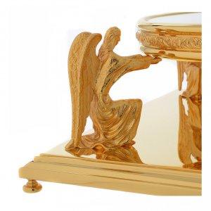 Thabors, Monstrance stands: Molina base for monstrance in golden brass