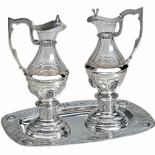 Molina cruets, set of 2, in silver brass s1