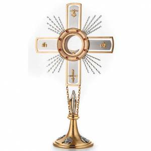 Monstrances, Chapel monstrances, Reliquaries in metal: Monstrance, cross and Mary
