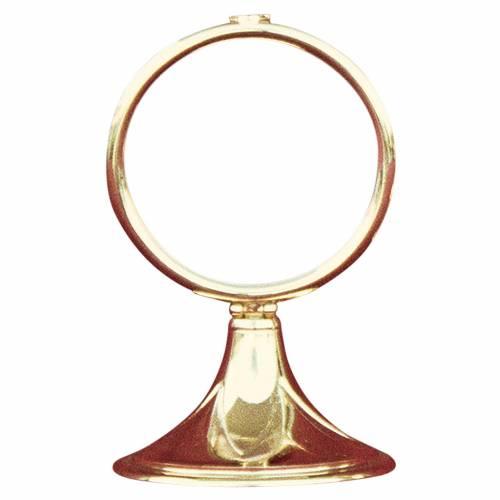 Monstrance shrine gold-plated brass 13cm s1