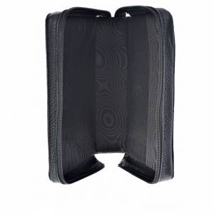 Morning and Evening Prayer cover, black genuine leather with image of Our Lady of Kiko s3