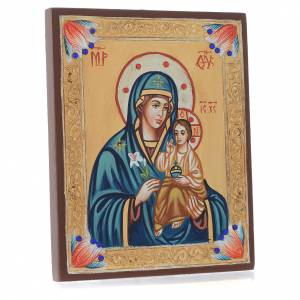 Rumanian hand-painted icons: Mother of God Hodegetria Icon