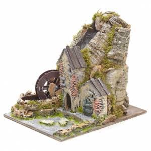 Moulin à eau de montagne pour crèche s3