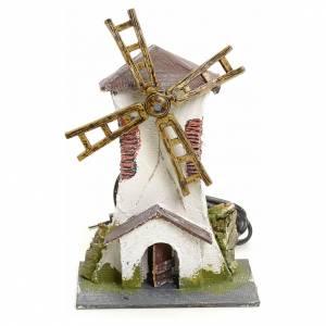 Moulins en miniature: Moulin à vent électrique crèche 18x13x10