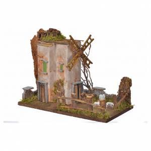 Moulin à vent en miniature 33x18x25cm s2