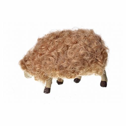 Mouton laine tête baisée crèche 10 cm s2
